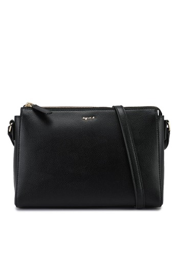 agnès b. black Slim Sling Bag 4F0EDACD0D7AC3GS_1