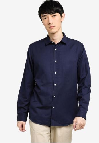 KOTON blue Long Sleeve Shirt 1662EAA1C676B0GS_1
