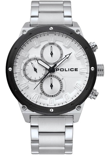 Police silver Police gent's super metal watch  - PL15458JYSTB/04M-A 12AFEAC0326734GS_1