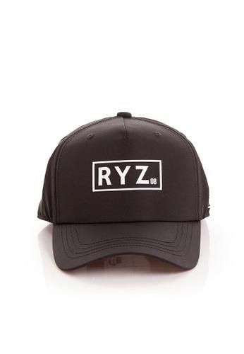 RYZ black RYZ Logo Baseball Black Cap. 20F9DACBA05568GS_1