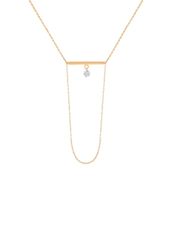 Khoe pink Khoe 18K Rose Gold Evans Diamond Necklace F35CFAC0F89631GS_1