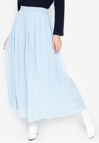 Chase Fashion blue Chiffon Wide Leg Culottes Palazzo Pants F16ADAA66E212CGS_1