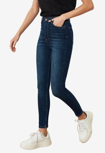 Trendyol blue High Waist Skinny Jeans DB61CAA723FE6AGS_1