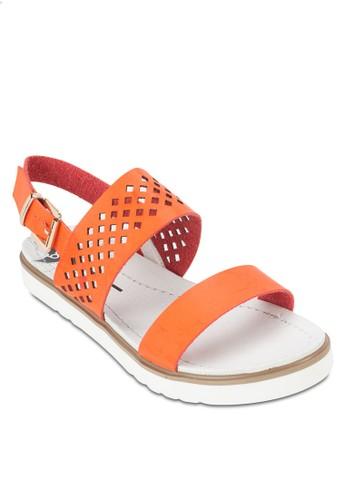 雕花繞踝涼鞋, 女鞋, esprit女裝鞋
