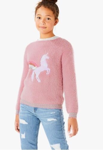 MARKS & SPENCER pink Unicorn Jumper 8F1F8KA5F356FFGS_1