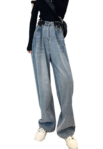 Sunnydaysweety blue Loose and Long Jeans CA052013BL 60B7DAA1CE9D18GS_1
