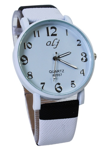 World of Watches white OLJ Cassie Women's Leather Strap Watch LFW011 WO566AC15TUAPH_1