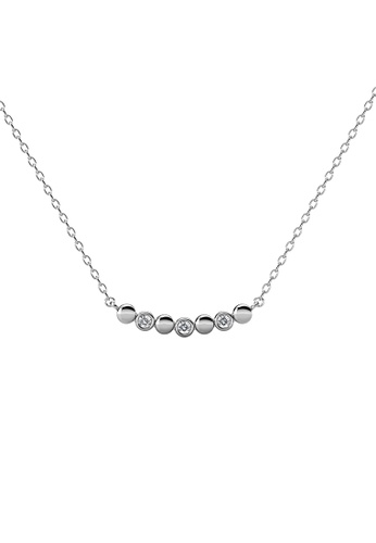 Her Jewellery silver Evelyne Pendant (White Gold) - Made with Premium grade crystals from Austria 7535AACF8F7CF1GS_1