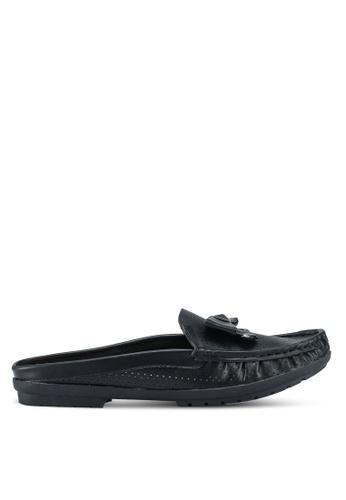 Carlton London black Bow Front Slip On Loafers 5DE47SH604E7A2GS_1