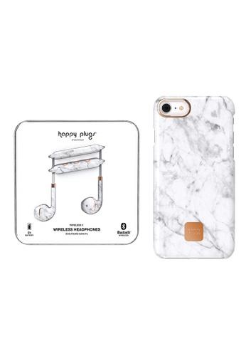 newest 2b8c2 29dae Happy Plugs Wireless II - White Marble + Happy Plugs Slim Case for iPhone 8  Plus / iPhone 7 Plus (5.5