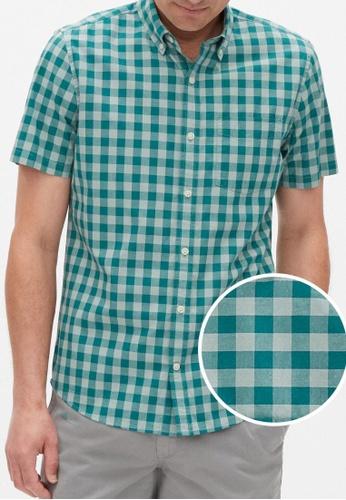 Gap green Poplin Shirt in Slim Fit 001CBAA9F3B3D8GS_1