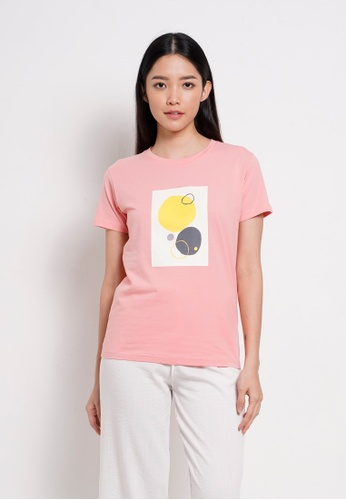 Fave pink Short Sleeve Graphic Tee 4AB29AAA9E284BGS_1