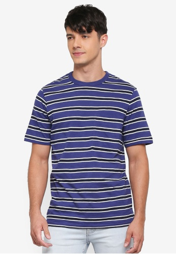 French Connection blue Old School Stripe T-Shirt B759AAA26FE6BAGS_1