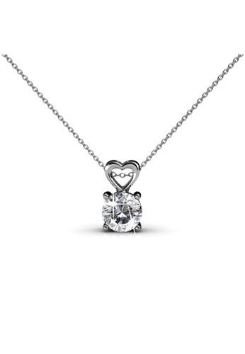 Her Jewellery silver Sweet Love Pendant WG - Kalung Crystal Swarovski by Her Jewellery 39023AC2C7B3EDGS_1