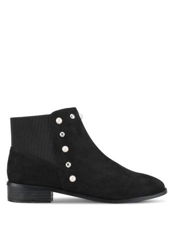 ZALORA black Pearl Ankle Boots B209EZZE509596GS_1