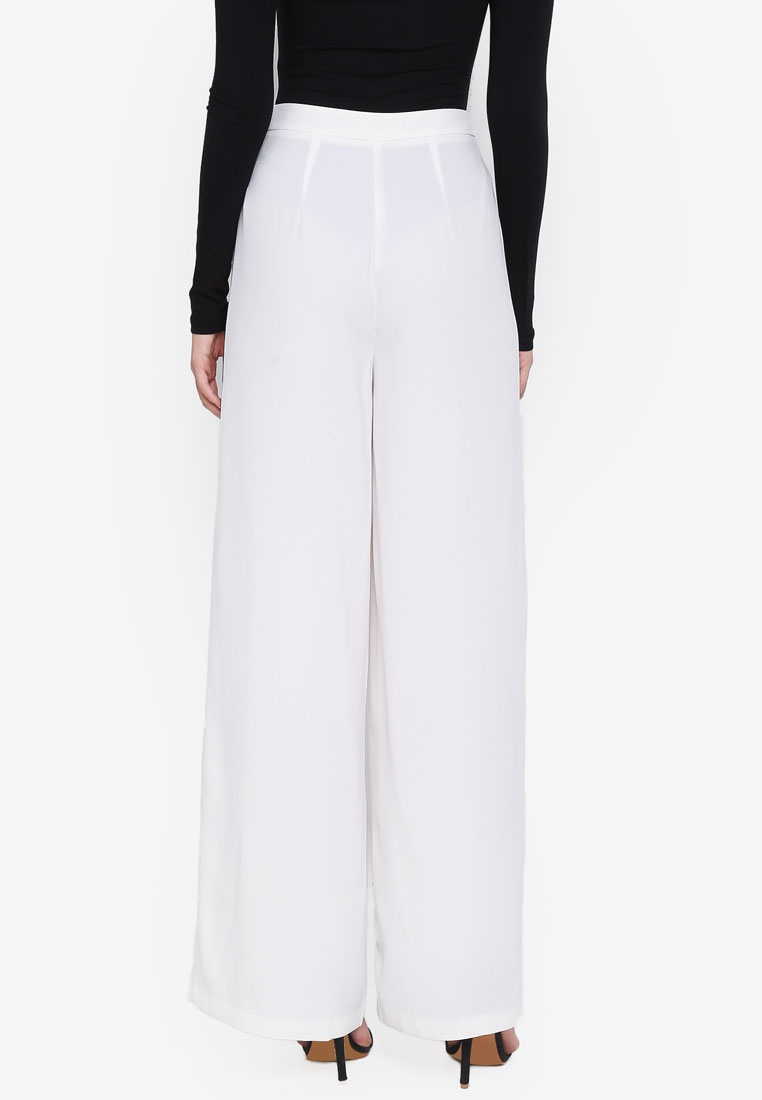 White Trousers Wide Core Leg MISSGUIDED Premium qZwBx8z