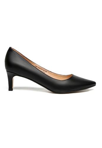 Byford black Oban Pointed Toe Heels 95C43SHB1B936EGS_1
