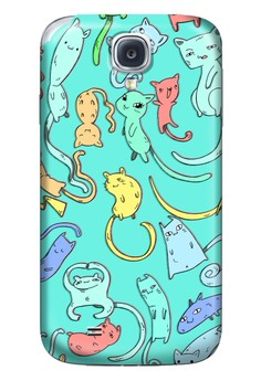 Cats Nekos and Kittens Glossy Hard Case for Samsung Galaxy S4