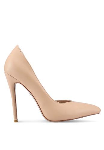 Public Desire beige Sachi Stiletto Court Heels A0FD1SHCBC7E7FGS_1