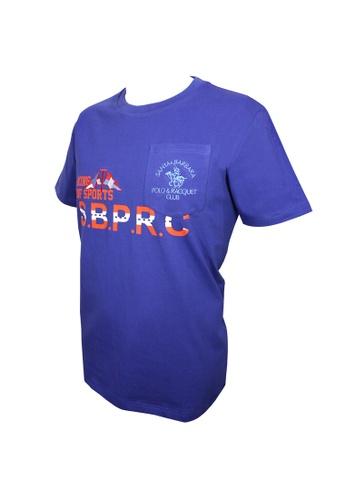 Santa Barbara Polo & Racquet Club blue SBPRC Regular Graphic T-Shirt B207AAA139249EGS_1