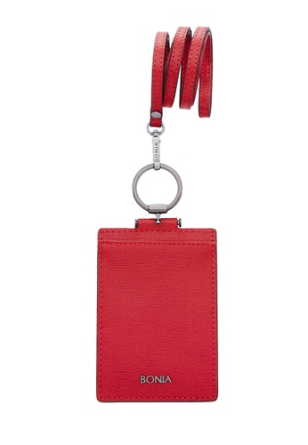 BONIA red Red Fia Cardholder A297AAC0C65766GS_1