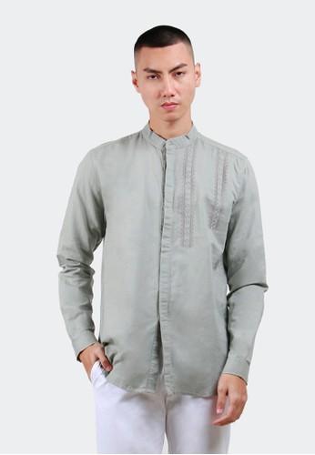 HUBBU grey Baju koko Lengan panjang B01497H Abu 5860DAA2904483GS_1