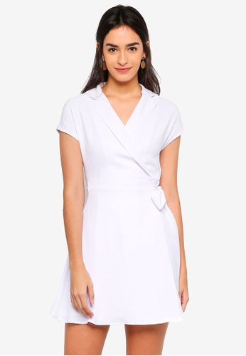 ZALORA white Vest Wrap Dress ABF5DAA188FD0EGS_1