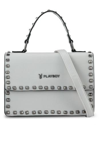 PLAYBOY BUNNY grey Playboy Bunny Sling Bag PL604AC0SML7MY_1