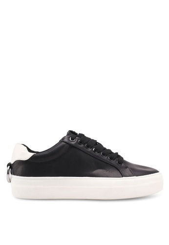 TOPSHOP black Cranberry Ring Detail Lace Up Trainers 3A1B9SH3BBDF53GS_1