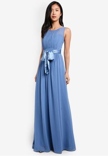 Dorothy Perkins blue Dusky Blue Natalie Maxi Dress DO816AA0S7ASMY_1