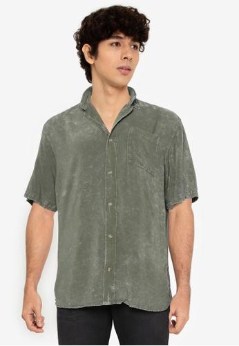 Jack & Jones green Bailey Short Sleeves Shirt 74785AA4B56049GS_1