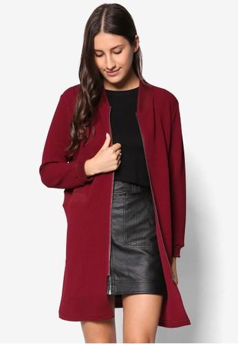 長版立領拉鍊外套, 服飾esprit tst, 夾克 & 大衣