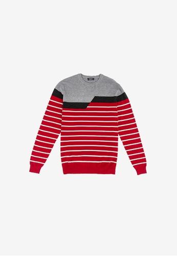 FOREST red Forest Fancy Knitted Long Sleeve T Shirt Men Sweater Men Knitwear - Baju Sweater Lelaki Knitwear - 23288 - Red B9997AA55B8719GS_1