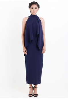 [PRE-ORDER] Turtle Necked Midi Draped Dress