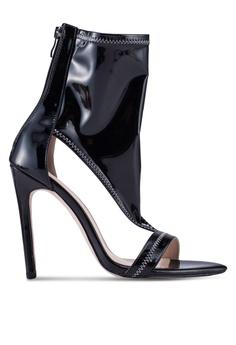 7068d9b3ac8 Public Desire black Inferno Black Patent Ankle-length Heels  F339FSHA823DF6GS 1