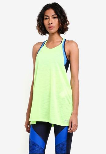 Under Armour green Threadborne Fashion Tank Top UN337AA0RUFVMY_1