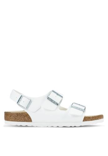 Birkenstock white Milano Birko-Flor Sandals BI090SH63HNGMY_1