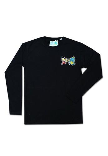 Pop Kidswear black Pop Kidswear Ultraman Dino Adult tee ( Long Sleeves ) 88F64AA5E10EBEGS_1