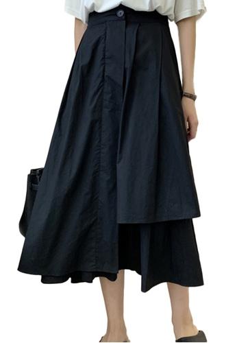 Sunnydaysweety black Fashion Irregular Hollow Loose High Waist Skirt A21051319BK 8034CAAA44B0B9GS_1