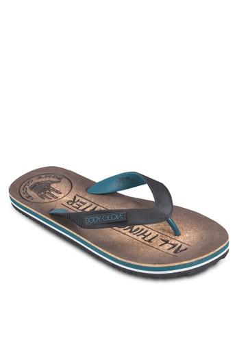 男士人zalora 衣服尺寸字夾腳拖, 鞋, Flip Flops