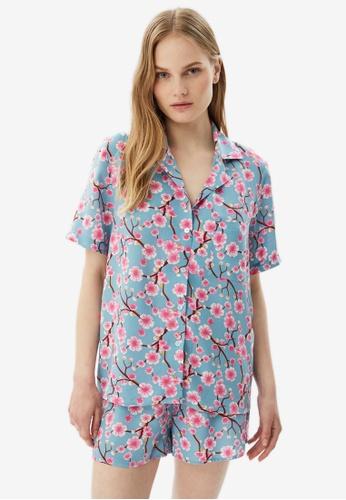 Trendyol 多色 花卉睡衣組 6ECA9AABD24501GS_1