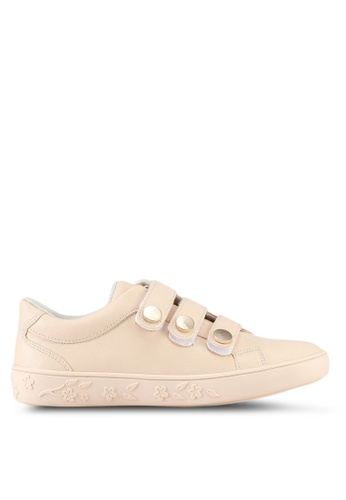 Something Borrowed beige Velcro Tri Strap Sneakers 1A8A1SHAF31DF6GS_1