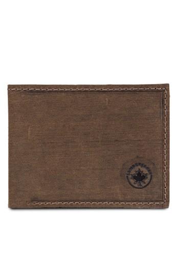 Lumberjacks 暗紋對折皮夾, 飾品配件,zalora 手錶 評價 皮革