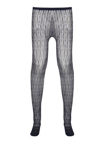 鑽石形鉤花蕾絲褲襪,esprit台灣網頁 服飾, 襪子