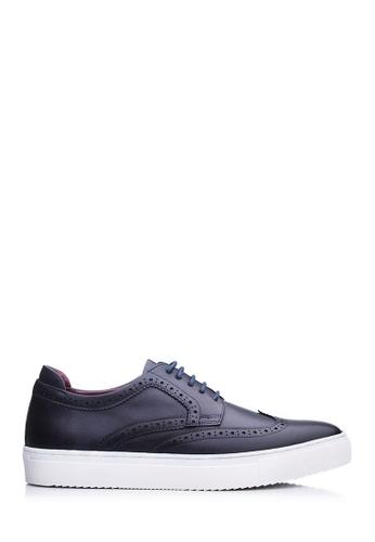 BONIA blue Men Dark Blue Full Brogue Oxford Shoes F3372SHB286168GS_1