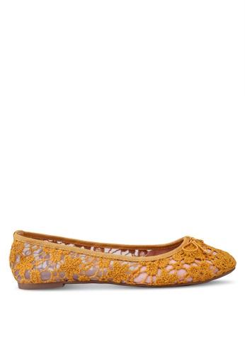 Rubi yellow Nora Mesh Ballet Flats BC931SH3B79F3FGS_1