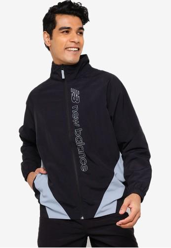 New Balance black NB Sport Style Optiks Jacket 54D8EAA6663E92GS_1