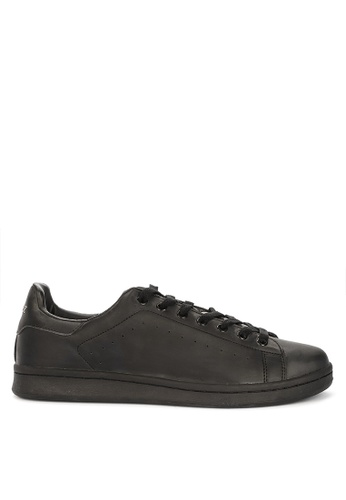 Andy Z black Men's Lace-up Low-cut Sneakers 438F5SH4640DE9GS_1