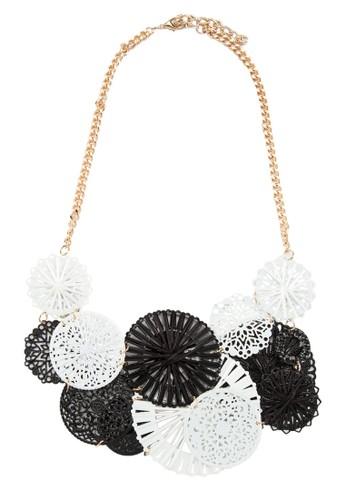 單色立zalora時尚購物網的koumi koumi體裝飾項鍊, 飾品配件, 項鍊