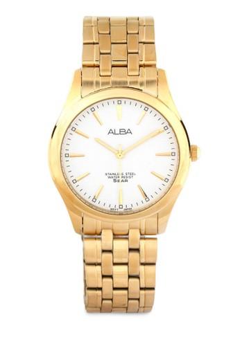 Alba gold ALBA Jam Tangan Pria - Gold White - Stainless Steel - ARSY08 AL383AC0UN3ZID_1